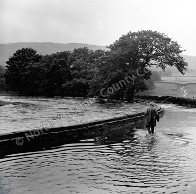 River Ure in Flood, Hawes